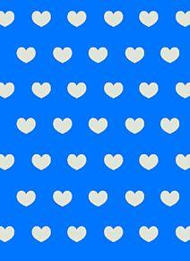 青ハート背景の画像(プリ画像)