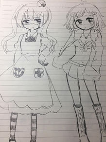 アメリカ娘とイギリス娘の画像(プリ画像)