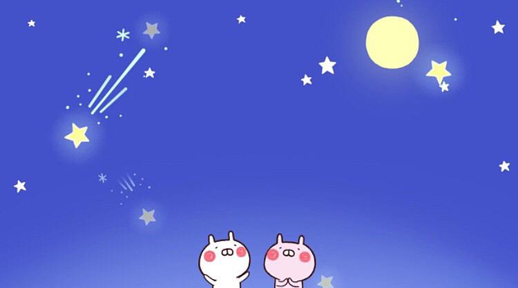 流れ星をみているうさまるです。