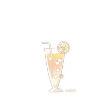 ジュース イラスト¨̮ (( 保存する前にプロフの画像(ポエム素材に関連した画像)