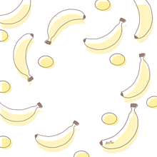 バナナ 壁紙 イラスト¨̮ (( 保存する前に詳細の画像(ポエム素材に関連した画像)