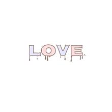 LOVE ペア画¨̮ (( 保存する前に詳細の画像(ポエム素材に関連した画像)