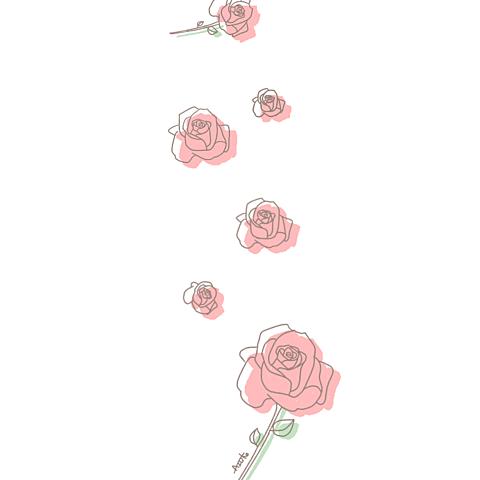 バラ イラスト¨̮ (( 保存する前に詳細の画像 プリ画像