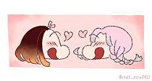 クレしん風 恋柱と禰豆子の画像(クレしんに関連した画像)