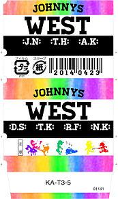 ジャニーズWEST MONO消しゴムケース結成日と、デビュー日の画像(消しゴムケースに関連した画像)