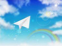 青空に紙飛行機✈ プリ画像