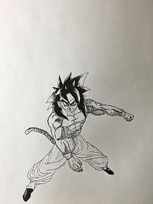 悟空スーパーサイヤ人4の画像(プリ画像)