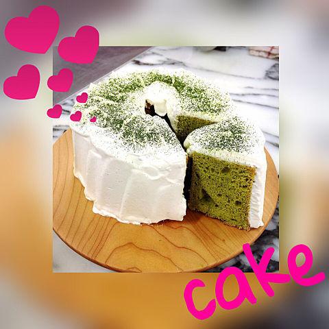 抹茶ケーキの画像(プリ画像)