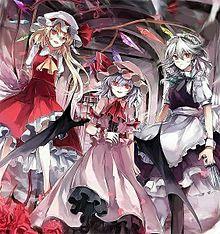 パチュリー、フラン、咲夜、美鈴、レミリアの画像(紅魔館に関連した画像)