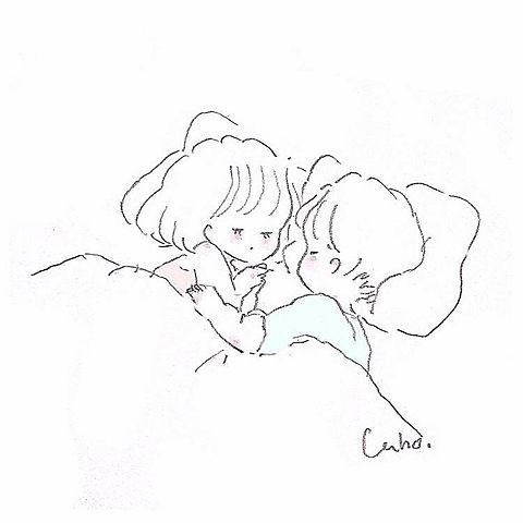 添い寝の画像(プリ画像)