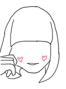 手描きイラスト 女の子 プリ画像