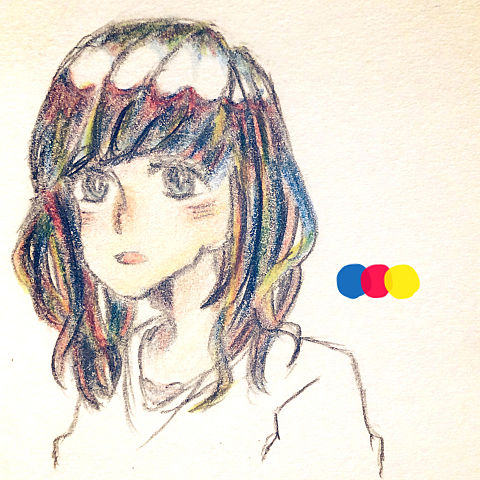 3色の画像(プリ画像)