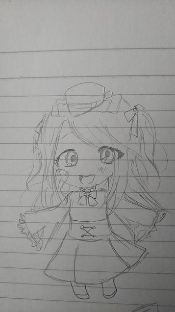 3分で描いたソフィア(*^^*)の画像(プリ画像)