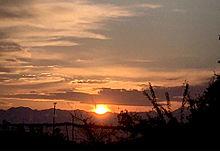 濃い夕日 プリ画像