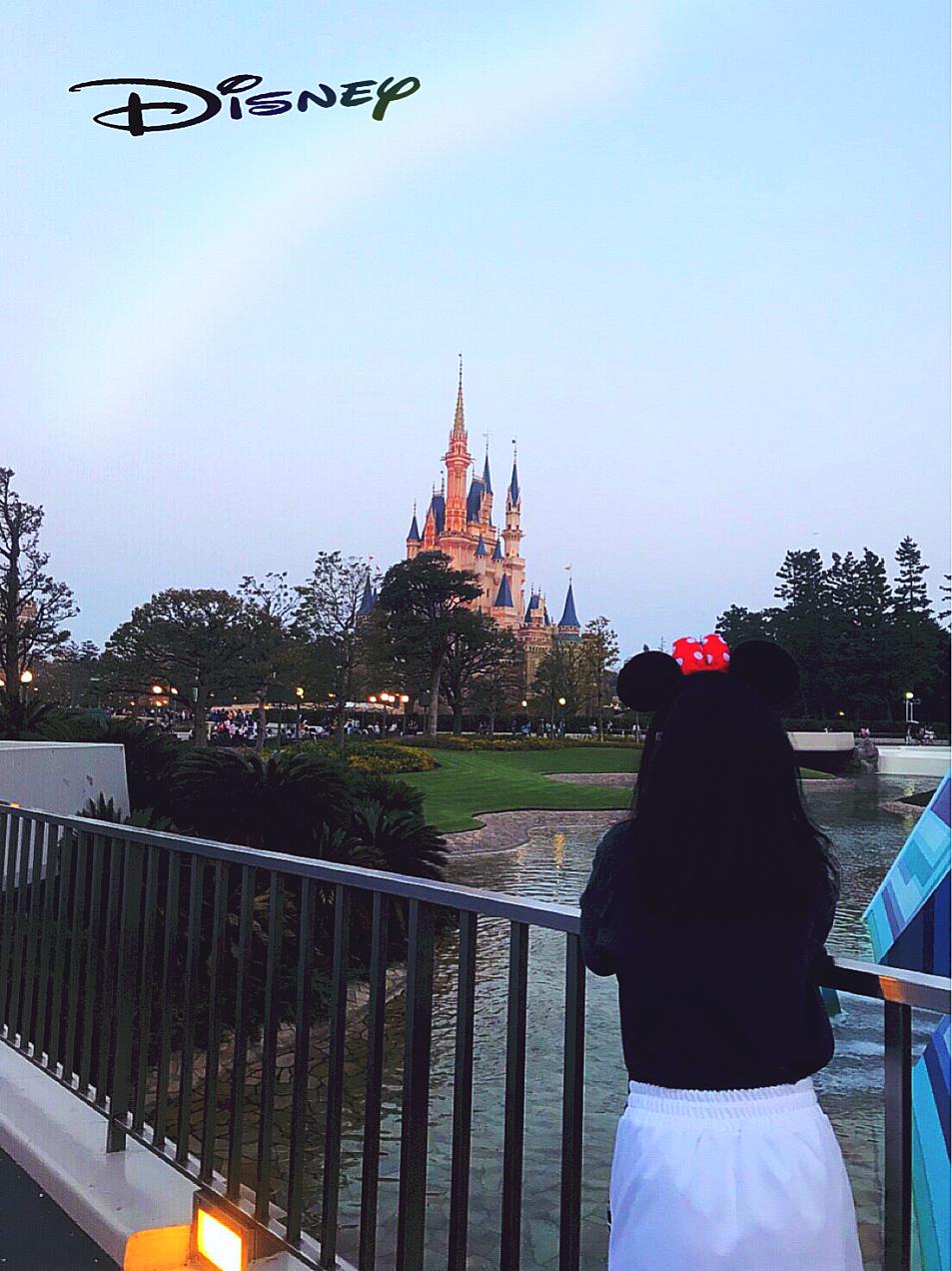 虹とシンデレラ城