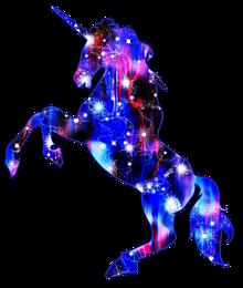 背景透過 ユニコーン 宇宙柄 スタンプ 素材の画像(宇宙柄に関連した画像)