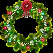背景透過 X'mas クリスマスリース 素材 背景 プリ画像