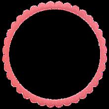 背景透過 フレーム ピンク シンプル 背景 素材 プリ画像