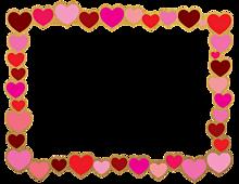 背景透過  ハート  バレンタインの画像(飾り枠に関連した画像)
