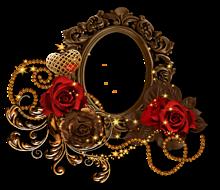 背景透過  フレーム  薔薇  バラ プリ画像