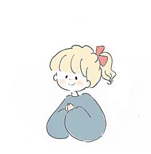 女の子 イラスト ポニーテール