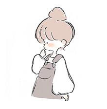 ゆるっとお団子ヘア × オーバーオールの画像(ほんわかに関連した画像)