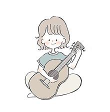 guitar girl 🌿🌿の画像(ギター イラストに関連した画像)