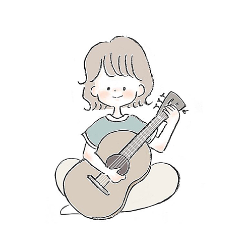 guitar girl 🌿🌿の画像 プリ画像