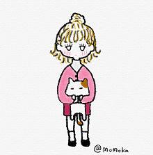 女の子と猫。 プリ画像