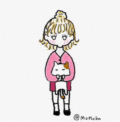 女の子と猫。の画像 プリ画像