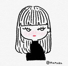 魅惑の黒ニット女。 プリ画像