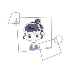 紫×ハイネック×お団子の画像(女の子イラストに関連した画像)