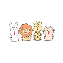 かわいい イラスト カラフル 動物の画像27点完全無料画像検索