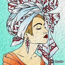 スカーフを巻いている女性の画像(スカーフに関連した画像)