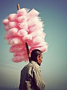 Cotton candy and Uncleの画像(綿菓子に関連した画像)
