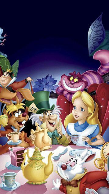 壁紙 待受 イラスト ディズニー アリス 不思議の国のアリス Alice In Wonderland スマホ壁紙 待ち受け画面画像 Naver まとめ