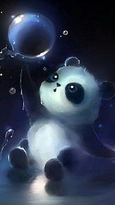 水中パンダ  (マイコレ・保存はイイネ!押す)の画像(プリ画像)