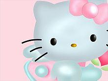 3D キティ  (マイコレはポチ押す)の画像(プリ画像)