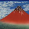 浮世絵*赤富士  (マイコレはポチ押す) プリ画像