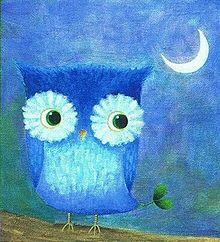 真夜中のフクロウ  (マイコレはポチ押す)の画像(プリ画像)
