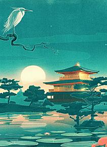 宵闇の金閣寺  (マイコレはポチ押す)の画像(プリ画像)