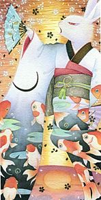金魚の舞い  (マイコレはポチ押す)の画像(プリ画像)