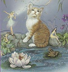 猫と妖精  (マイコレはポチ押す)の画像(プリ画像)