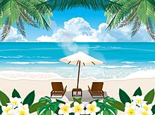 ビーチ リゾート  (マイコレはポチ押す)の画像(プリ画像)