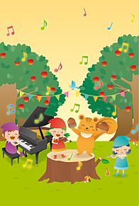 秋の森の音楽会  (マイコレはポチ押す)の画像(プリ画像)