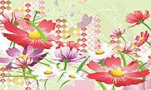 和柄に秋桜  (マイコレはポチ押す)の画像(プリ画像)