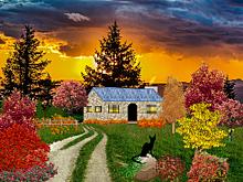郊外の一軒屋 (マイコレはポチ押す)の画像(プリ画像)