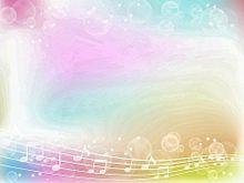 無断マイコレ🈲パステル 音符 ゆるふわ 素材 背景の画像(#音符に関連した画像)