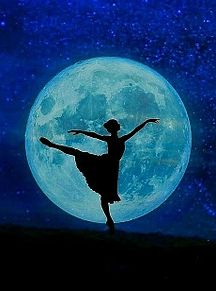 無断マイコレ🈲バレエ バレリーナ 月 シルエット 素材 壁紙の画像(バレリーナに関連した画像)