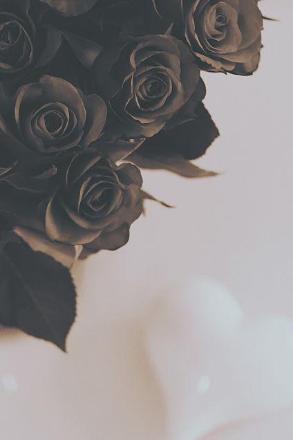 薔薇とハート  ヴィンテージ加工の画像(プリ画像)